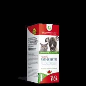 VETOBIOL poudre anti-insectes chien et chat (100gr)