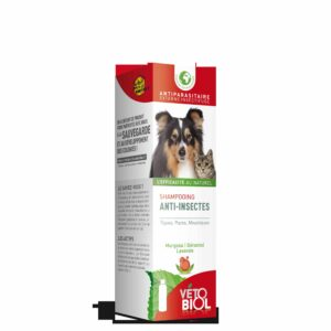 VETOBIOL shampooing anti-insectes chien et chat (200ml)
