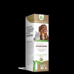 VETOBIOL shampooing anti-démangeaisons chien et chat (200ml)