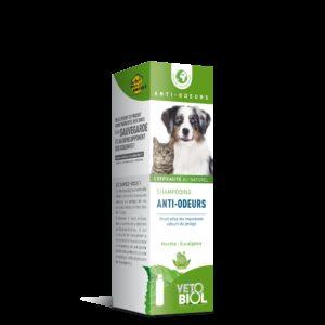 VETOBIOL Shampooing anti-odeurs chien et chat (200ml)