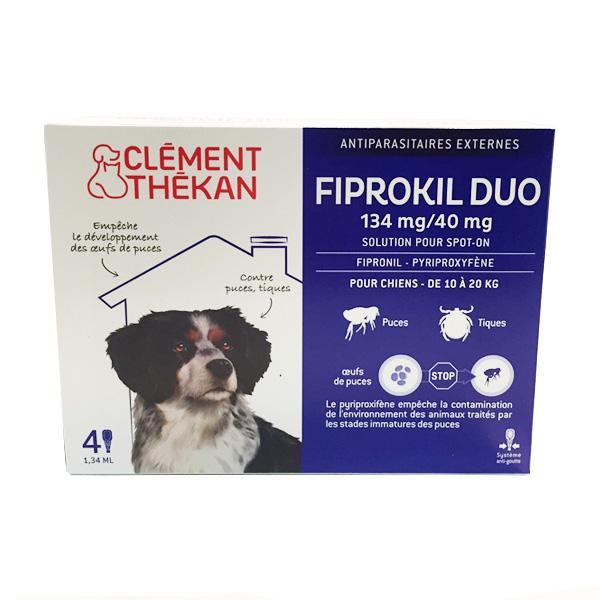 Fiprokil duo chien moyen (10 à 20kg)  (4 pipettes)