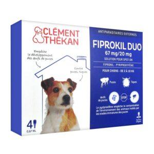 Fiprokil duo petits chien (2 à 10kg)  (4 pipettes)