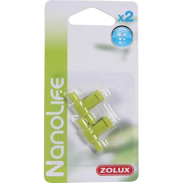 Zolux Robinets à Air plastique nanolife x2