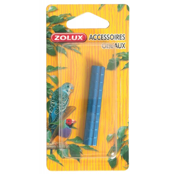 Zolux Bagues en Aluminium pour Grandes Perruches x10