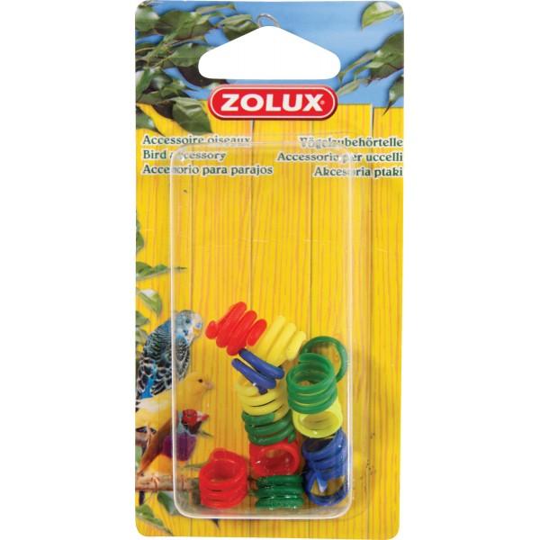 Zolux Bagues Plastiques pour Pigeons x12