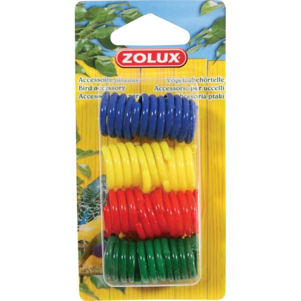 Zolux Bagues Plastiques pour Poules x12