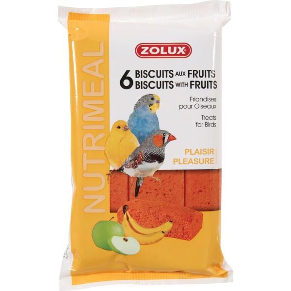 Zolux Biscuits pour Oiseaux aux Fruits 75g x6