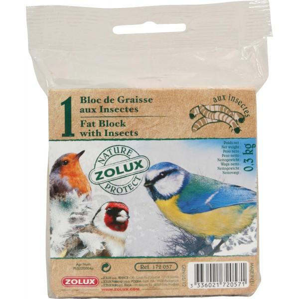 Zolux Bloc de Graisse Insectes Sans Filet 300g
