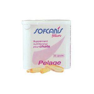 Sofcanis felin Pelage - Complément alimentaire pour chat x30 capsules