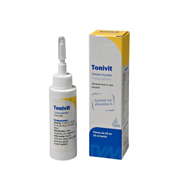 TONIVIT - Complément minéral et vitaminé pour chiens, chats et NAC 25mL