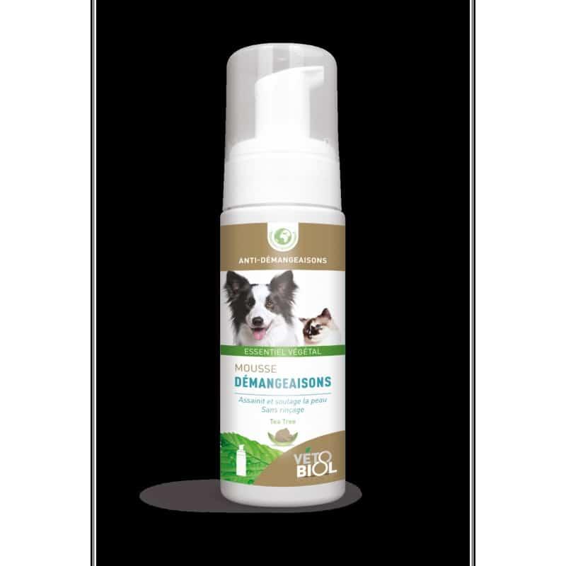 VETOBIOL mousse anti-démangeaisons chiens et chats (100ml)