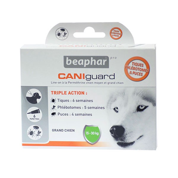 Beaphar Caniguard pipettes antiparasitaires grand chien (15-30kg) (3 pipettes)
