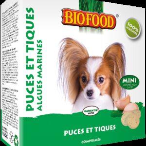 BIOFOOD - Comprimés anti-puce algues marines Mini chien