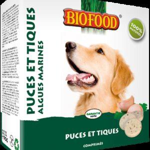 BIOFOOD - Comprimés anti-puce algues marines chien