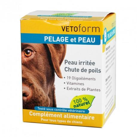 VETOFORM Chien pelage et peau - Complément alimentaire pour les peaux sèches et le pelage des chiens 100gr