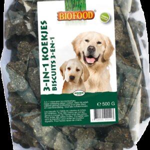 BIOFOOD - Biscuits aux algues marines pour chiens 500gr