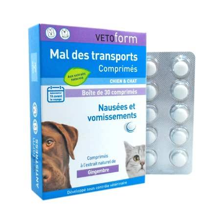 VETOFORM Mal des transports pour chats et chiens x30 comprimés