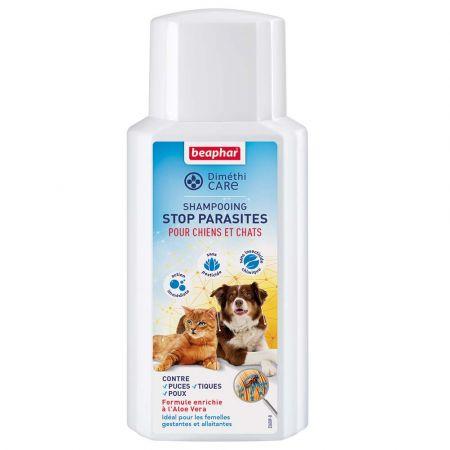 Beaphar Dimethicare - Shampooing stop parasites pour chien et chat - 200ml