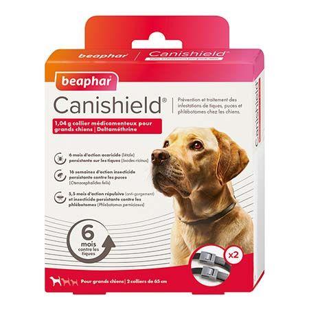 Canishield, collier chien contre les puces, tiques et moustiques (grands chiens)