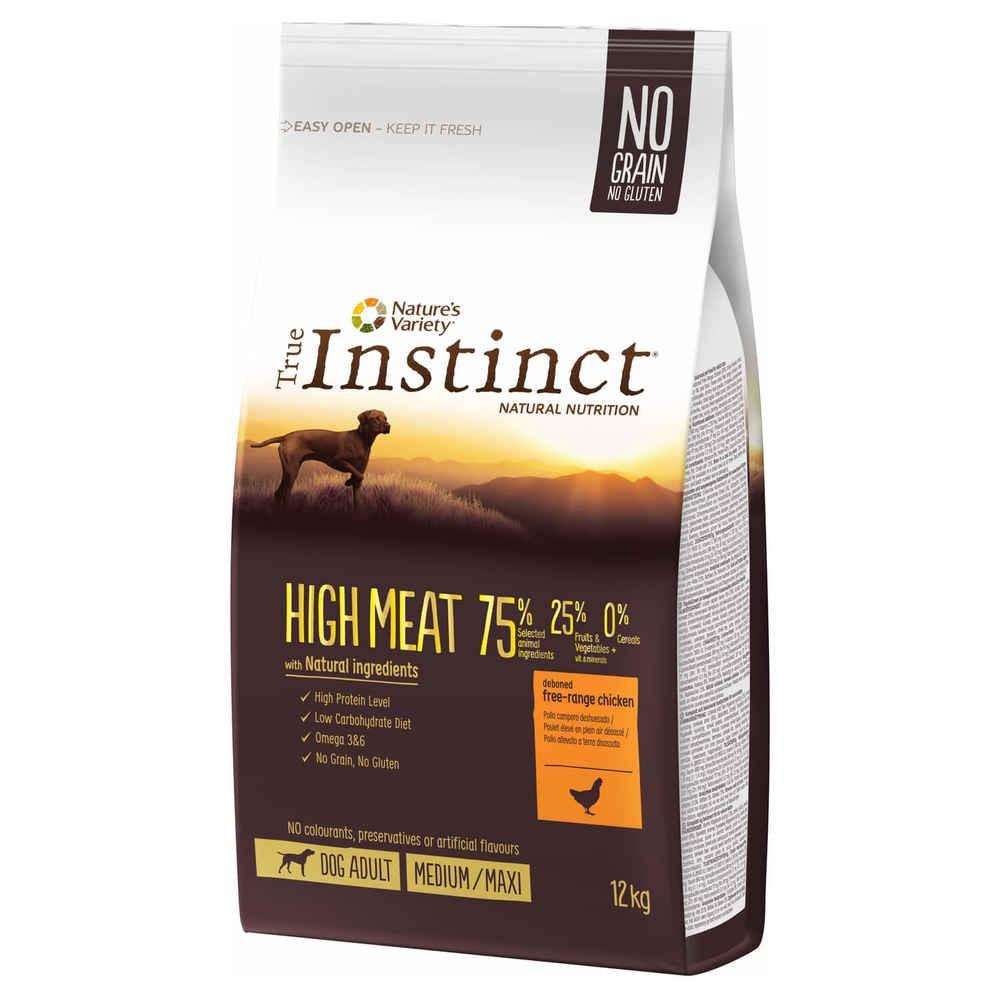 True Instinct chien - High meat poulet med/max adult (12kg)