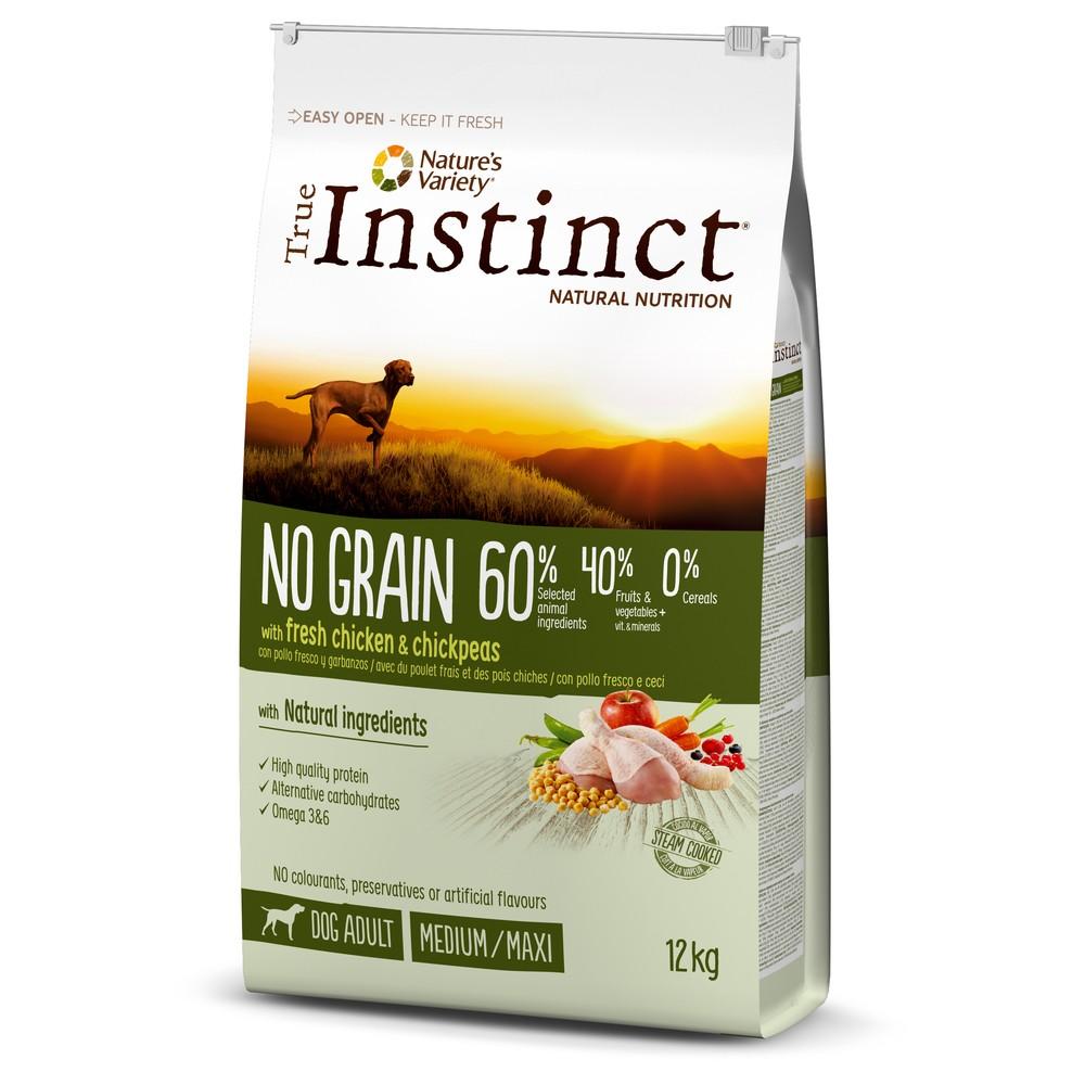True Instinct chien - No Grain poulet med/max adult (12kg)