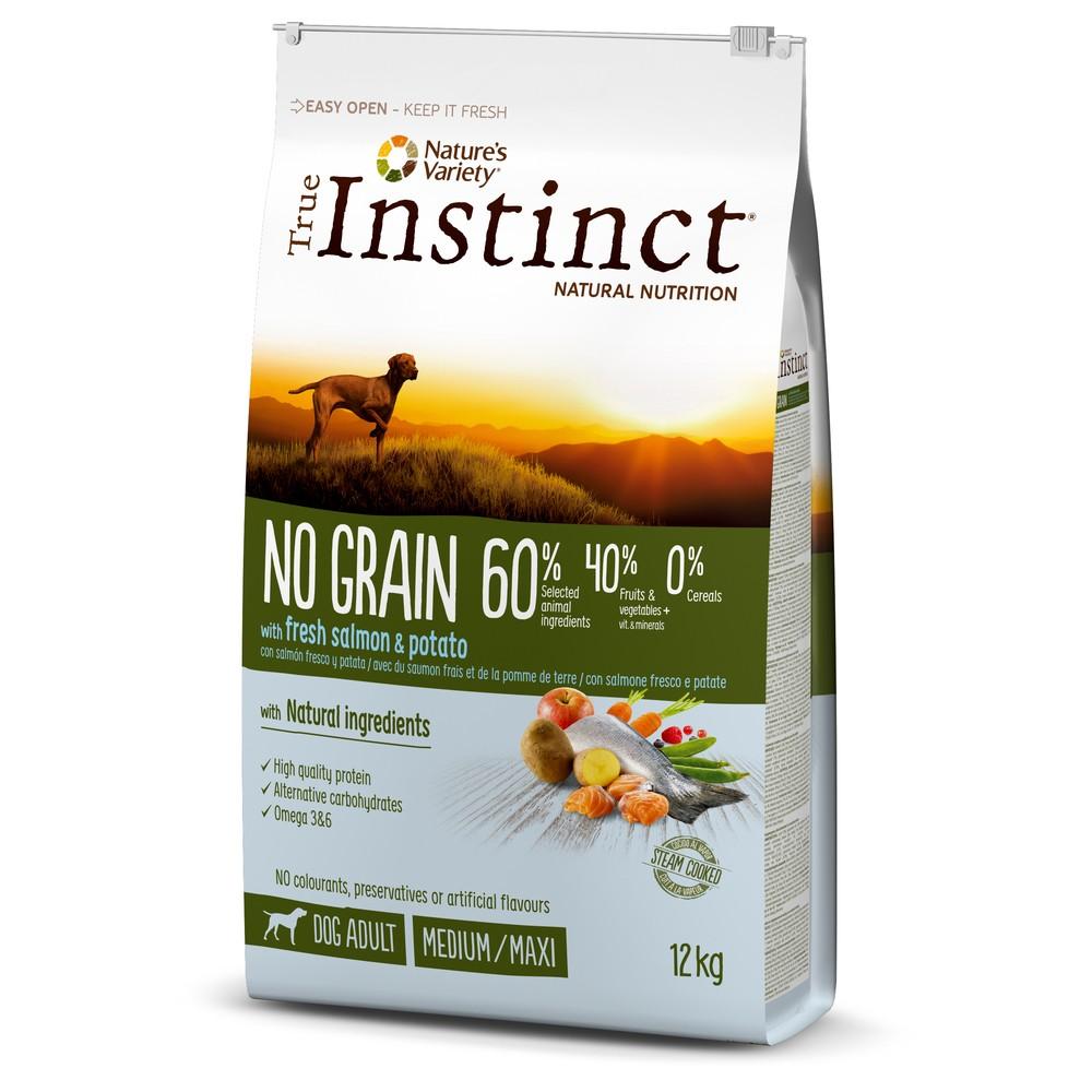 True Instinct chien - No Grain saumon med/max adult (12kg)