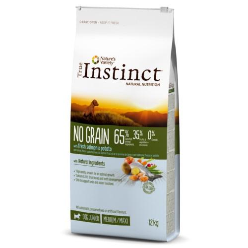 True Instinct chien - No Grain saumon - Junior (12kg)