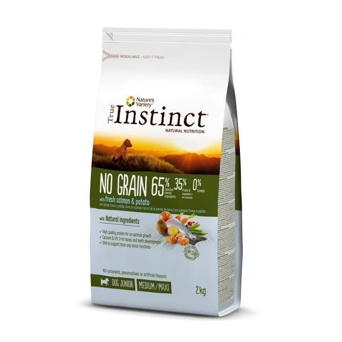True Instinct chien - No Grain saumon - Junior (2kg)