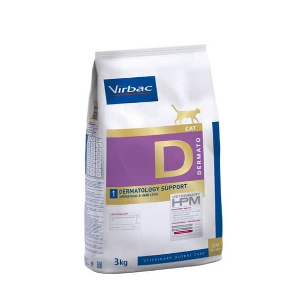 VIRBAC VET HPM Cat D1 Dermatology (3kg)