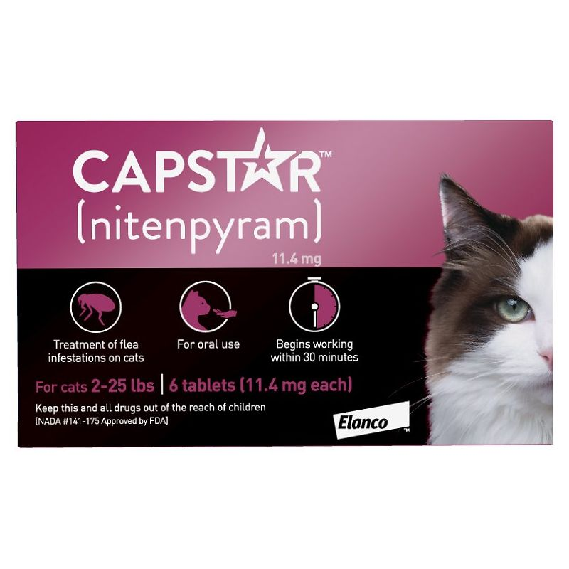 CAPSTAR (11.4MG) COMPRIMÉS ANTI-PUCES CHATS