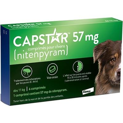 Capstar (57mg) comprimés anti-puces chiens