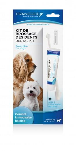 Kit de Brossage des Dents pour Chien / FRANCODEX