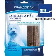 Lamelles à mâcher dentaire pour chiots et petits chiens (5-10 kg) / Francodex
